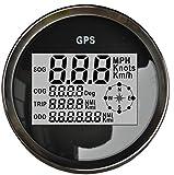 lambayeque-MPH SOG Cog Odo Trip Meter für Motorrad Auto Truck Boot Yacht Digital GPS LCD Tacho Messgeräten, 85mm 12/24V Version