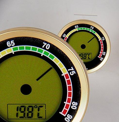 Lifestyle-Ambiente Caliber 4R Präzisions-Hygrometer +/-1{6b1185841246e4f9c8805a77c01208eab0806a058c1b2fb3fe23813cbf7f0160} RF Gold inkl Tastingbogen