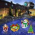 Weihnachtsbeleuchtung LED Weihnachten Lichteffekt Projektor Licht mit Fernbedienung 12 Schaltbare Muster, Wasserdicht für Innen Außen Garten Weihnachten Deko