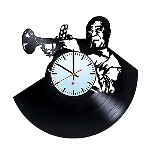 Jazz Singer Design Vinyl Record Wall Clock - Perfect Home Decoration Idea - Original and Cool Gift For Parents and Friends - Music Themed Modern Fan Art