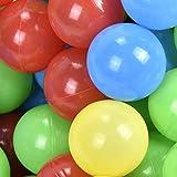 Jalano Bällebadbälle Spielbälle farbig 55 mm Baby Spielzeug Bälle-Set für Bällebad, Menge:500