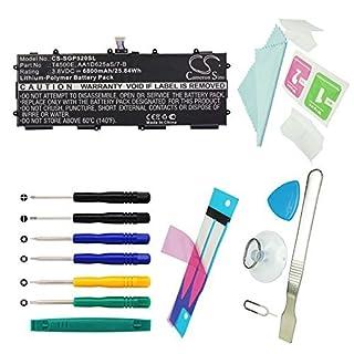 CS Tablette Batterie, Li-Polymère 6800mAh Convient pour Samsung GT-P5200, GT-P5210, GT-P5220, Galaxy Tab 310.1, remplace Samsung aa1d625as/7B, t4500e avec Outils