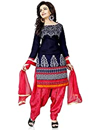 Today Best Offer New Collection Fancy And Party Wear Printed Salwar Suit Dress For Women New Designer Blue Color...