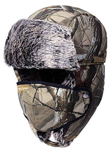 Odema unisex in nylon stile russo con patta per orecchio invernale nero taglia unica