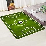 Amyove Decorazione Domestica Tappeto da Campo Antiscivolo Modello Football Field Pattern per Soggiorno 80cmx120cm Campo di Calcio 4