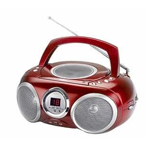 LECTEUR RADIO CD MP3 USB ROUGE