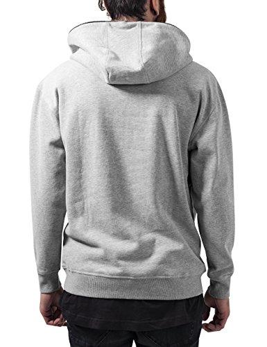 Urban Classics Herren Kapuzenpullover Sweat Troyer Hoody Grau (grey 111)