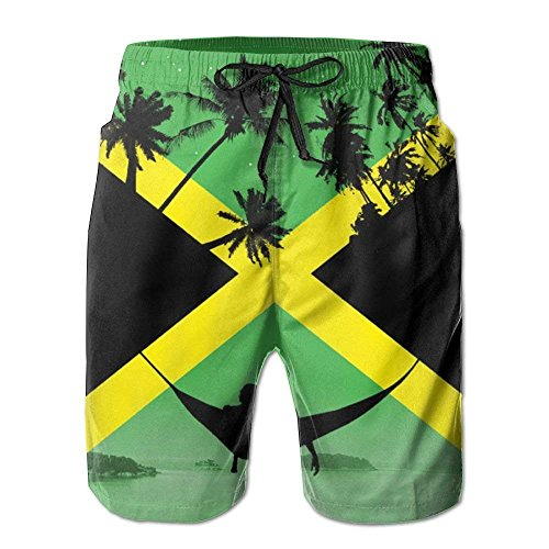 Jamaica by Other Cubed 2018 Summer Casual Beach Shorts Pants for Men Boys Medium -