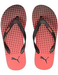 PUMA Men's Conik Idp Black-High Risk Red Flip-Flops-8 UK (42 EU) (9 US) (36853202)