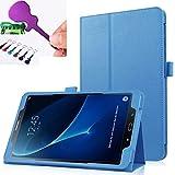 Sotefe® Etui Samsung Galaxy Tab A6 7.0'' Hülle - Flip Cover Case Schutzhülle Tasche Hülle für Samsung Galaxy Tab A 7.0 2016 SM-T280/T285 + Displayschutz + Bieröffner Flaschenöffner - Blau