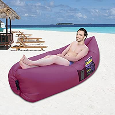 Inflatable Lounger Sofa Sleeping Bag,OUTAD Compression Air Beds,Portable Chair,Air Mattresses Beds.Ideal For Lounging, Camping, Beach, Fishing, Kids, Chilling, Parties, Swimming Pools, Camping And More. produced by OUTAD - quick delivery from UK.