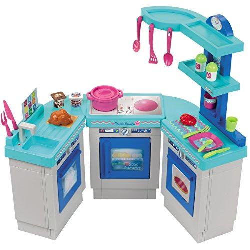 Spielküche mit 3 Modulen, incl. 25 teiligem Zubehör, - Kinder Küche Spielzeugküche Küchen Zubehör Geräte