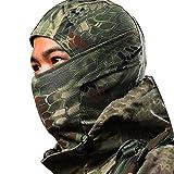 Kingnew Camouflage Balaclava Volle Halbe Offene Gesichtsmaske Atmungsaktiv für Motorrad Helm Radfahren Skifahren & Wintersport (grün)