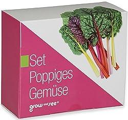 Neuartig und besonders ideal als ausgefallenes Geschenk für Männer und Frauen!    Überraschen auch Sie ihre Freunde mit unserem Set Poppiges Gemüse und erleben Sie mit, wie aus   - den außergewöhnlichen Samen  - etwas Wasser  - der beigelegten Erde u...