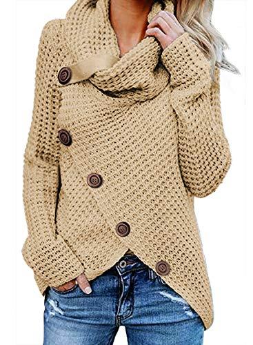 Aleumdr Mujer Suéter Larga Invierno Jersey Punto