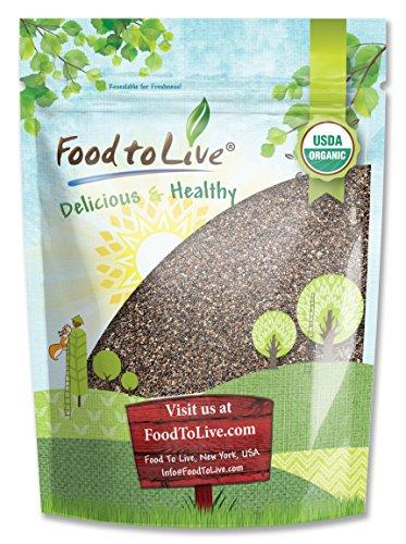 Food to Live Las semillas de chía orgánicas certificadas (crudas, Ne