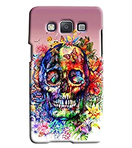Clarks Skelton Sketch Hard Plastic Printed Back Cover/Case For Samsung Galaxy E7