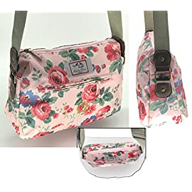 Casual Stylish Floral – Amelia Rose London® – Crossbody messenger shoulder canvas Bag – Satchel Flower Vintage Design for All small Girl, lady. & women