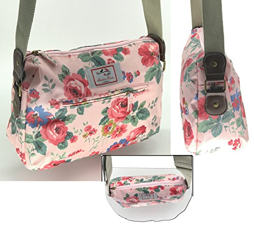 - 51wFcMdJwbL - Casual Stylish Floral – Amelia Rose London® – Crossbody messenger shoulder canvas Bag – Satchel Flower Vintage Design for All small Girl, lady. & women