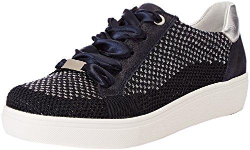 ARA Damen New York Sneaker, Blau-Silber, 06, 41.5 EU -