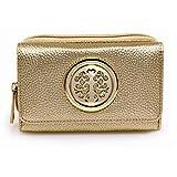 Womens Medium Wallet Purses For Ladies Female Handbag Card Holder Newlook Luxurious And Stylish , Design 2 Gold