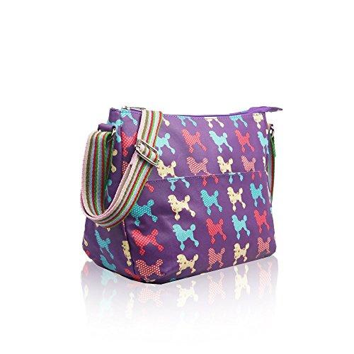 YourDezire - Sacchetto donna Purple/Poodle