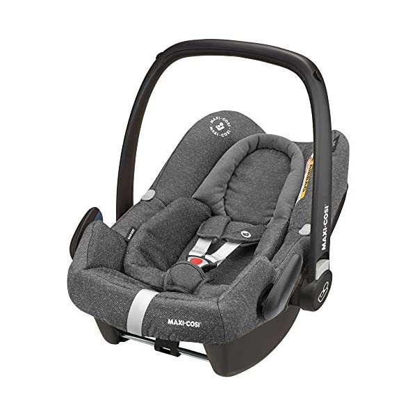 Maxi-Cosi Rock Baby Car Seat Group 0+, ISOFIX, i-Size Car Seat, Rearward-Facing, 0-12 m, 0-13 kg, Sparkling Grey Maxi-Cosi Baby car seat, suitable from birth to 13 kg (birth to 12 months) Enhanced safety: This Maxi-Cosi car seat complies with the i-Size (R129) car seat legislation Baby-hug inlay of this Maxi-Cosi i-Size car seat offers a better fit and laying position for newborns 2