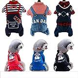 PLHF Hundekleidung Herbst- und Winterkleidung mit vier Beinen Haustier kleiner Hund Teddy liefert, 001, XL