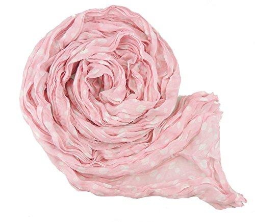 Superbe étui souple pour pour écharpe Fashion Polka Dot Rose - Rose pâle