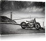 Triumph Motorrad Bild auf Leinwand, XXL riesige Bilder fertig gerahmt mit Keilrahmen, Kunstdruck auf Wandbild mit Rahmen, guenstiger als Gemaelde oder Bild, kein Poster oder Plakat, Format:120x80 cm