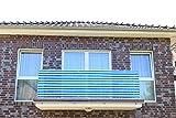 Blau&Weiß 6x0,9m Smart Deko Balkonsichtschutz, Balkonverkleidung, Windschutz, Sichtschutz und UV-Schutz für Balkon, Gartenanlagen, Camping und Freizeit (78820)