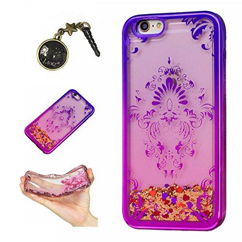 Laoke für Apple iPhone 6 Plus (5.5 Zoll) Hülle Schutzhülle Handy TPU Silikon Hülle Case Cover Durchsichtig Gel Tasche Bumper ( + Stöpsel Staubschutz) (5) 8