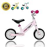 HAPTOO Laufrad 7 Zoll Rosa Laufräder ab 1 Jahr Baby