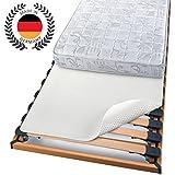 Beautissu® Protector para la base del colchón con nudos BEAUTECT - Tex ecológico Siegel - Lavable - blanco 180x200 cm