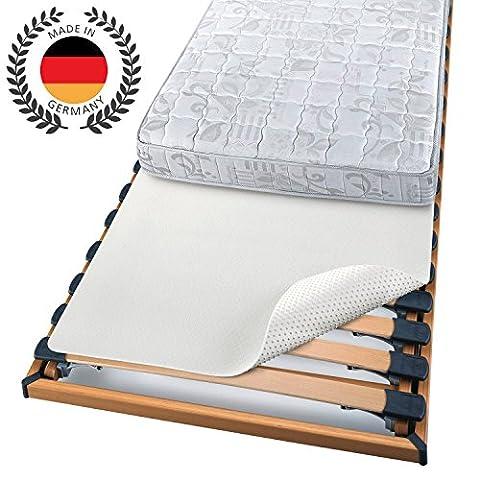 BEAUTECT - Protège matelas - Isolateur pour sommier à lattes - A picots souples - Lavable - Uni - Blanc - 140x200 cm