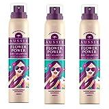 Aussie Shampoo Secco Tre Pacchi senza Acqua Capelli Spray Detergente Estate Flower Power Fragranza Leggero Floreale Aroma Istantaneo Refresh con N Visible Residuo per Tutti i Tipi di Edizione Limitata