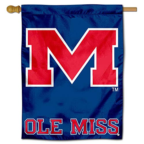 College Flags and Banners Co. University of Mississippi Ole Miss Rebels Hausflagge Miss Mississippi University