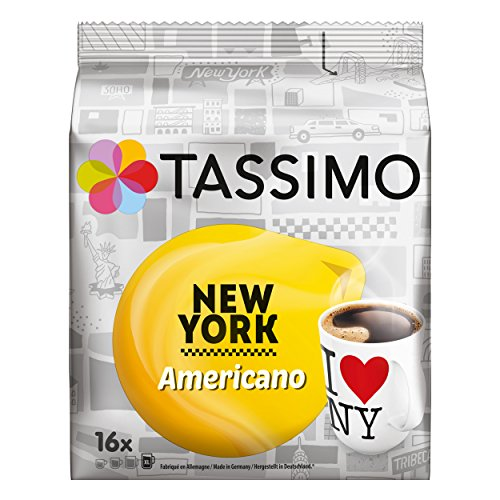 Choose Tassimo New York Americano, XL Ground and Roast Coffee, Capsules, 16 T-Discs by Jacobs Douwe Egberts