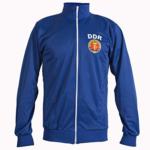 JL SPORT Retro 1970 Ostdeutschland Deutsche Demokratische Republik DDR Zip Up Jacke Trainingsanzug Top