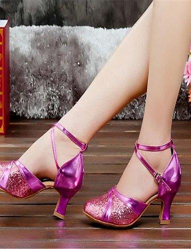 ShangYi Nicht Anpassbare - Keilabsatz - Satin - Latin - Damen Purple
