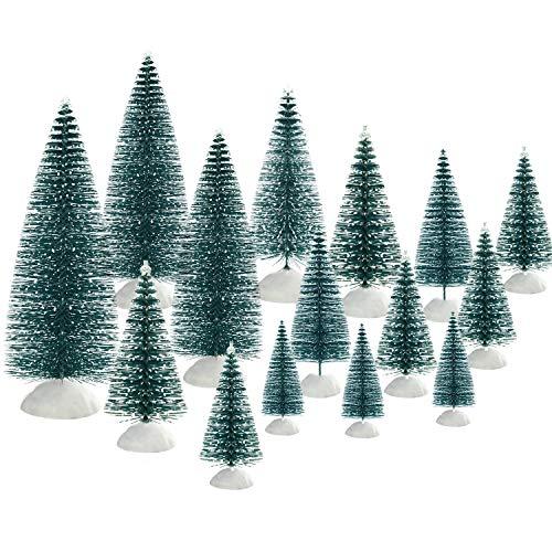 TUPARKA 46 Unids Árboles Mini árboles de Navidad Sobremesa Árboles Adornos de...
