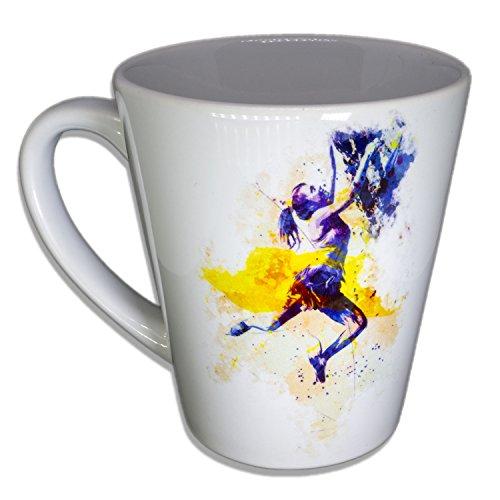 Klettern - Handarbeit Designer Tasse aus brillanten Porzellan Unikat - Tasse, Becher, Kaffeetasse, Teetasse Keramik Tasse, 330ml, Geschenk für Freunde