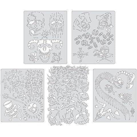 5 Mini Airbrush Stencils ARTOOL