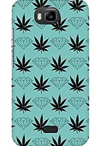AMEZ designer printed 3d premium high quality back case cover for Huawei Honor Bee (diamond leaf)