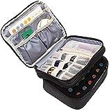 Dire-wolves Box pour Organisateur d'huile Essentielle pour Huile parfumée et Accessoires Sac de Stockage d'huile Essentielle pour 30 Bouteilles (5 ml-30 ML)