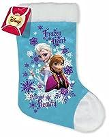 Calza della Befana in vellutino con stampa di Frozen. Prodotto Disney originale