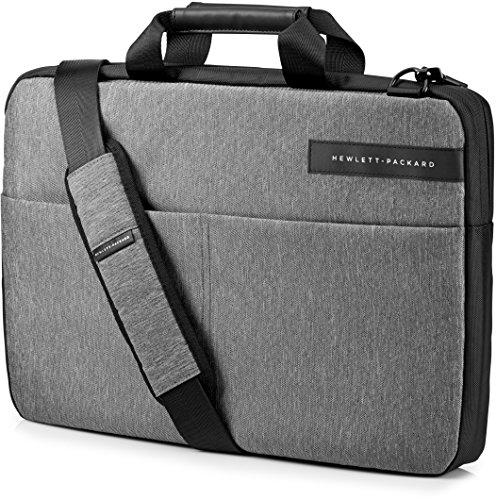 HP Signature Slim Top Load (L6V68AA) Umhängetasche mit Reißverschluss (für Notebooks) 39,62 cm (15,6 Zoll) grau
