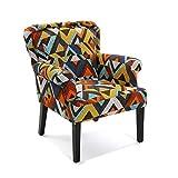 Versa 19501337 Sillón tapizado Dover, 89x71x72 cm, Multicolor, Butaca, Naranja
