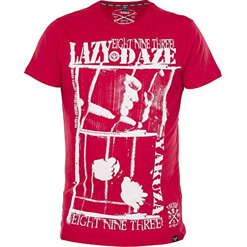 Yakuza Original Herren Lazy Daze T-Shirt - Schwarz Rot