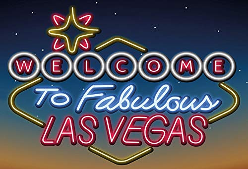 Cartel de Chapa genérica 30 x 20 cm Welcome to Fabulous Las Vegas Neon Cartel Tin Sign